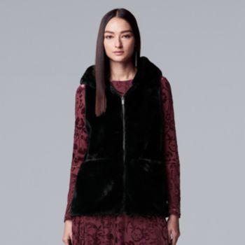 Women's Simply Vera Vera Wang Faux-Fur Vest