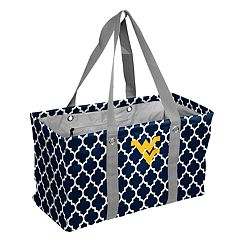 Logo Brand West Virginia Mountaineers Quatrefoil Picnic Caddy Tote