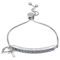 Brilliance 'Beyond Blessed' Adjustable Bracelet with Swarovski Crystals
