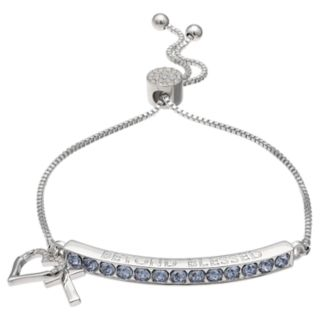 "Brilliance ""Beyond Blessed"" Adjustable Bracelet with Swarovski Crystals"