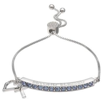 """Brilliance """"Beyond Blessed"""" Adjustable Bracelet with Swarovski Crystals"""