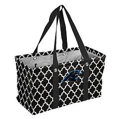 Logo Brand Carolina Panthers Quatrefoil Picnic Caddy Tote