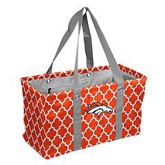 Logo Brand Denver Broncos Quatrefoil Picnic Caddy Tote