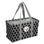 Logo Brand Pittsburgh Steelers Quatrefoil Picnic Caddy Tote