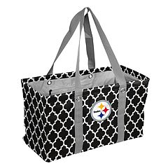 Logo Brand Pittsburgh Steelers Quatrefoil Picnic Caddy Tote