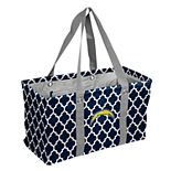 Logo Brand Los Angeles Chargers Quatrefoil Picnic Caddy Tote