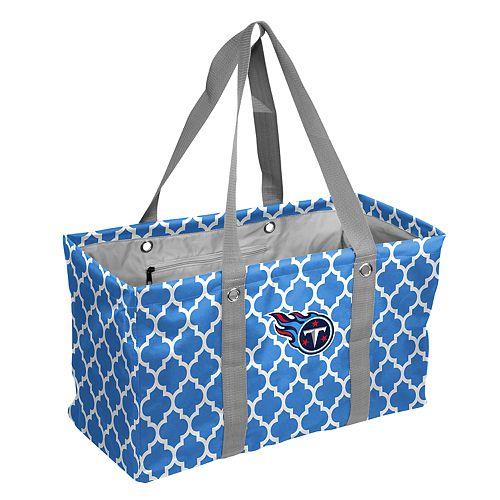 Logo Brand Tennessee Titans Quatrefoil Picnic Caddy Tote