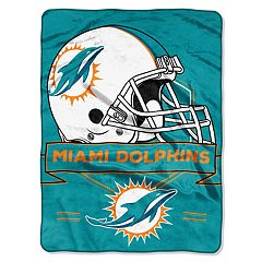 Miami Dolphins Prestige Throw Blanket