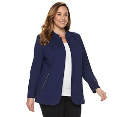 Plus Size Dana Buchman Notch Collar Blazer