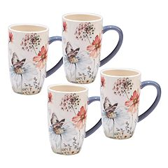Certified International Country Weekend 4-piece Mug Set