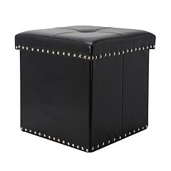 Simplify Embellished Collapsible Folding Storage Ottoman