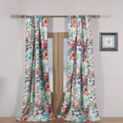 Barefoot Bungalow Flamingo Window Curtain Set