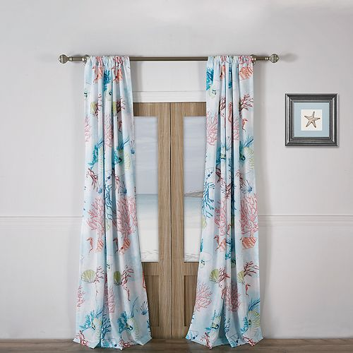 Barefoot Bungalow Sarasota Window Curtain Set