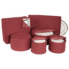 Richards Crimson 6-piece China Service Storage Bag Set