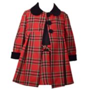 Baby Girl Bonnie Jean Plaid Dress & Coat Set