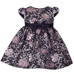Baby Girl Bonnie Jean Floral Brocade Dress