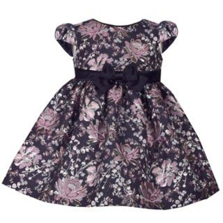 Baby Girl Bonnie Jean Floral Brocade Dress