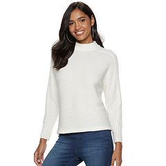 Women's Jennifer Lopez Ribbed Mockneck Sweater
