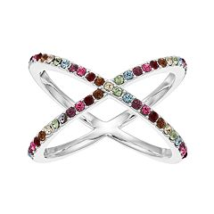 Brilliance X-Ring with Swarovski Crystals