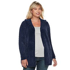 Plus Size SONOMA Goods for Life™ Chenille Hooded Cardigan