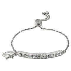 Brilliance 'Faith' Adjustable Bracelet with Swarovski Crystals