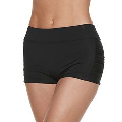 Women's Apt. 9® Ruched Boyshort Swim Bottoms