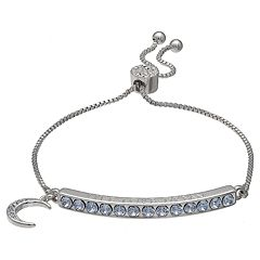 Brilliance 'Live Love Dream' Adjustable Bracelet with Swarovski Crystals