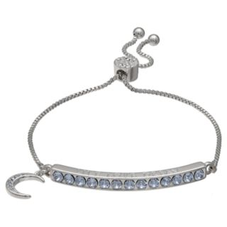 "Brilliance ""Live Love Dream"" Adjustable Bracelet with Swarovski Crystals"