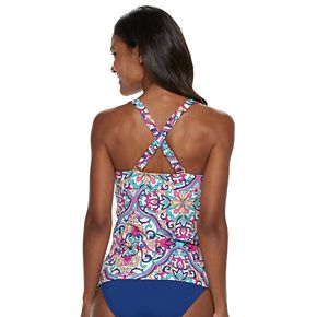 Women's Apt. 9® Lace-Up D-Cup Tankini Top