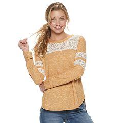 Juniors' Rewind Crochet Varsity Tee