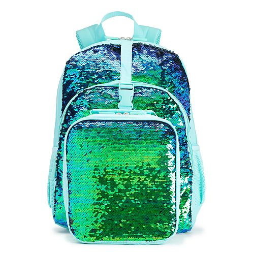 Kids Flippable Sequin Backpack   Lunch Bag Set c7a1b3487dc43