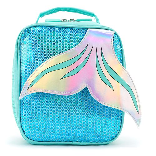 Kids Mermaid Tail Sequins Lunch Bag