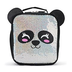 Kids Panda Face Sequins Lunch Bag