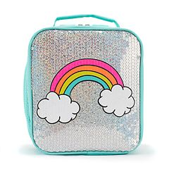Kids Rainbow Sequins Lunch Bag