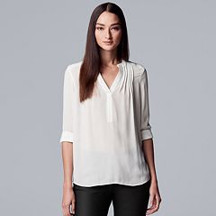 Women's Simply Vera Vera Wang Pintuck Crepe Blouse