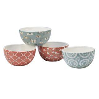 Certified International Country Weeknd 4-piece Ice Cream Bowl Set