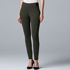 Women's Simply Vera Vera Wang Everyday Luxury Scuba Skinny Pants
