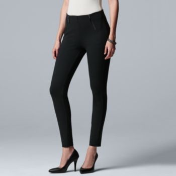 Women's Simply Vera Vera Wang High-Waisted Ankle Skinny Pants