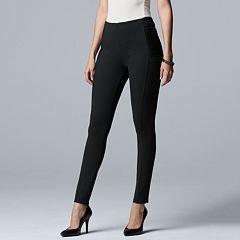 Women's Simply Vera Vera Wang Pintuck Ponte Midrise Skinny Pants
