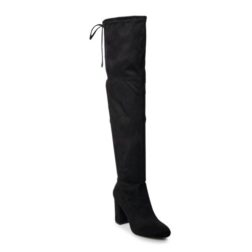So® Ladybug Women's Over The Knee High Heel Boots by So