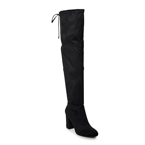 SO® Ladybug Women's Over-The-Knee High Heel Boots