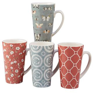 Certified International Country Weekend 4-piece Latte Mug Set