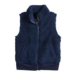 Girls 7-16 SO® Cozy Sherpa Full Zip Vest