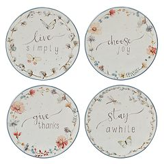 Certified International Country Weekend 4-piece Canape Plate Set