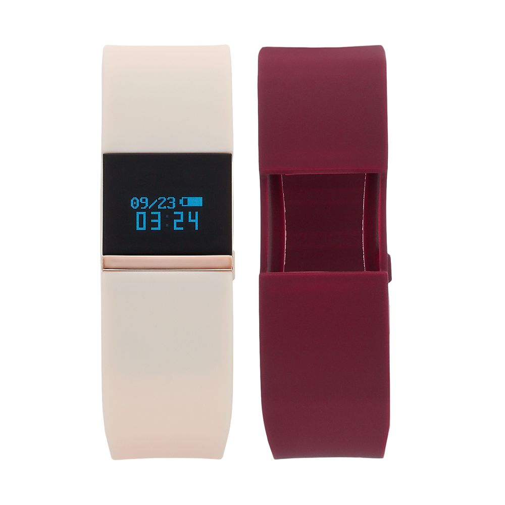 iFITNESS Women's Fitness Tracker & Interchangeable Band Set - IFT2742BK668-BPU