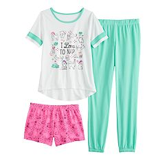 9051fcae Girls 4-14 & Plus Size SO® Top, Shorts & Jogger Pants Pajama