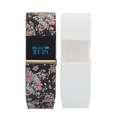 iFITNESS Women's Fitness Tracker & Interchangeable Band Set - IFT2668BK668-O78