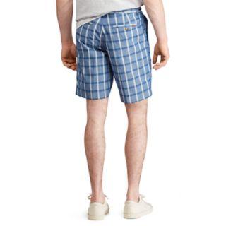 Men's Chaps Straight-Fit Stretch Poplin Flat-Front Shorts