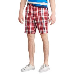 Men's Chaps Straight-Fit Stretch Poplin Flat-Front Shorts