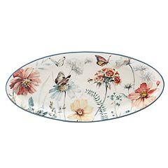 Certified International Country Weekend Oval Serving Platter
